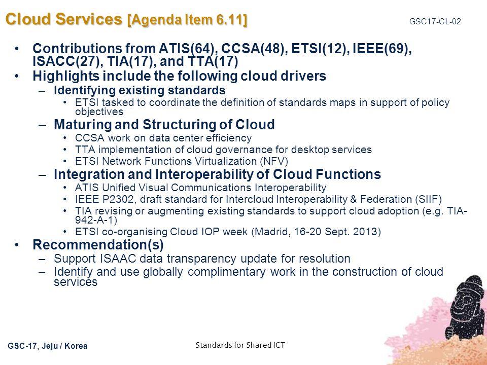 Cloud Services [Agenda Item 6.11]